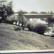 Image of Weston's Cover Bridge, Saco River, Fryeburg, Maine - Weston's Covered Bridge, Saco River, Fryeburg, Maine