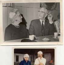 Image of Bemis37     2 photos of George Pendergast & Florence Morey (sp?) - George Pendergast and Florence Morey