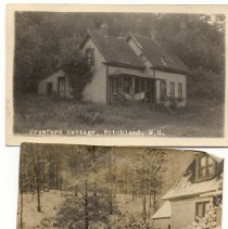 Image of Two photos.  One of Crawford Cottage, Notchland, Crawford Notch - Crawford Cottage, Notchland, Crawford Notch