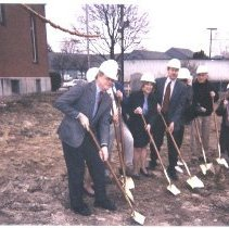 "Image of Conway Public Library, ""groundbreaking 3"" - Conway Public Library, groundbreaking"