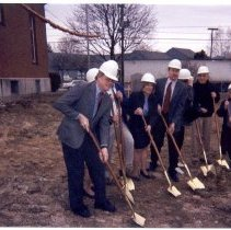 """Image of Conway Public Library, """"groundbreaking.tif"""" - Conway Public Library, groundbreaking"""
