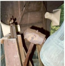 Image of Church (?) bell and hammer (Margo) - Church (?) bell and hammer