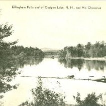 Image of Effingham Falls end of Ossipee Lake, NH and Mount Chocorua - Effingham Falls end of Ossipee Lake, NH and Mount Chocorua