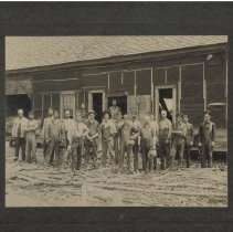 Image of Crew at old spool mill -