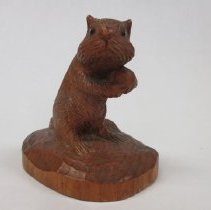 Image of Sculptural object - woodcarving of a squirrel by Rodney Woodward