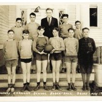 Image of Conway  Grammar School Basketball Squad - May 1939 - Conway Grammar School Basketball Squad - May 1939