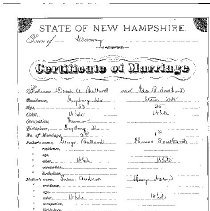 Image of Folder containing Baker family data..
