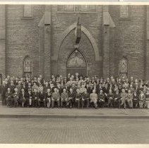 Image of Norwegian-Danish 64th Annual Conference  session, May 28-30, 1943, Racine, Wisc. Trinity Methodist Church - 5A Annual Confernece