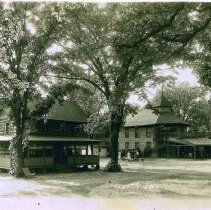 Image of Log Cabin and Hotel - 6M Red Rock Camp Meeting