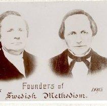 Image of Founders of Swedish Methodism, 1845-1895, Rev. Jonas Hedstrom, Rev. O.G. Hedstrom - clergy