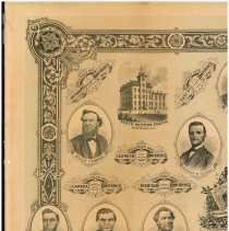 Image of Evangelical Association poster commemorating founding of conferences, institutions, publications - 5A1