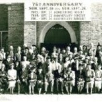 Image of Asbury Methodist Church, Wallace G. Mikkelson, Pastor, Minneapolis, MN September 26th, 1948, 75th Anniversary - Local Church