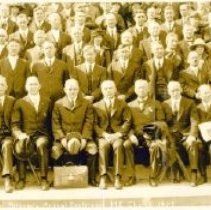 Image of Annual Conference in front of First M.E. Church, 1923 - 5A Annual Conference