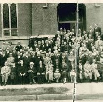 Image of Northern Minnesota Conference Session group photograph, in front of Simpson Methodist Church, 1928(?) - 5A Annual Conference