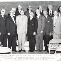 Image of District Retired Minister's Dinner, December 1960, at Portland Avenue Methodist Church - clergy