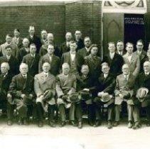 Image of Men's Bible Klass, Forsta Svenska Methodist Episcopal Church, April 1928 - Local Church