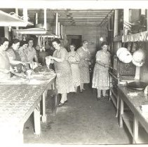 Image of Cooks at Lake Koronis Assembly Grounds, 1935 - 6F Lake Koronis