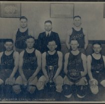 Image of Basketball Players, Minneapolis Church League Championship, 1923 - L-Minneapolis, Wesley UMC
