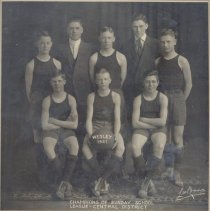 Image of Basketball Players, Champions of Sunday School League, Central District 192