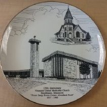 Image of Plate, Hutchinson, Vineyard UMC 1857-1982 - L-Hutchinson, Vineyard UMC