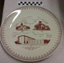 Image of Plate, Worthington, First Methodist Church 1873-1973 - L-Worthington, First Methodist Church