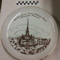 Image of Plate, Minneapolis, Hennepin Avenue United Methodist Church, Minneapolis, Minnesota - L-Minneapolis, Hennepin Ave UMC