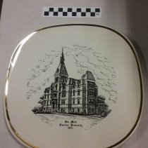 Image of Plate, Old Main, Hamline University 1854 - 7A Hamline University