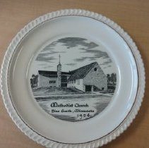 Image of Plate, Blue Earth Methodist Church 1954 - L-Blue Earth Methodist Church