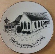 Image of plate, Racine UMC