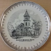 Image of plate, Minneapolis, Richfield Methodist Church