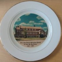 "Image of Plate, Pine City UMC ""To God Be THe Glory"" 1887-1987 - L-Pine City UMC"