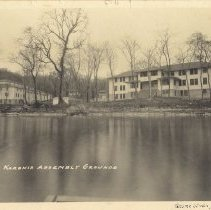 Image of Dining Hall and Lodge, 1923, taken by Gesme Studio, Paynesville, Minnesota - 6F Lake Koronis Assembly Grounds