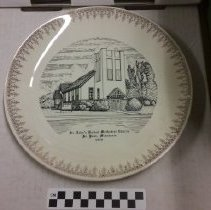 Image of Plate, St. John's United Methodist Church, St. Paul, Minnesota 1970 - L-St. Paul, Wheelock Parkway UMC