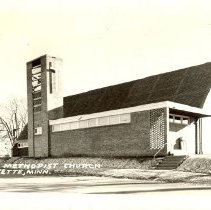 Image of postcard, First Methodist Church, Lafayette, MN - L-Lafayette UMC