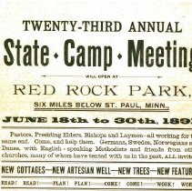 Image of Red Rock at Lake Koronis Assembly Grounds flyers 1883-1918 - 6M Red Rock