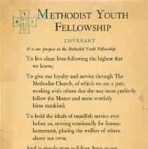 Image of Methodist Yout Fellowship motto