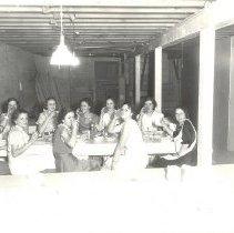 Image of 1935, waitresses, Clara Schran (Trume), Beulah Wilcox (Walters), Marjorie Prease, Luella Mahler (Modroff) - 6F Lake Koronis