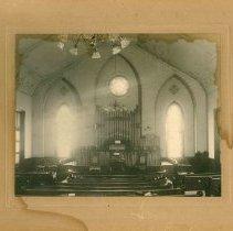 Image of Pipe Organ at Waseca M.E. Church, 1904 - Local Church
