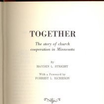 Image of Together: the story of church cooperation in Minnesota - Stright, Hayden L.