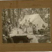 Image of Methodist Episcopal Camp Meeting at Nicollet MN, 189? - Camping