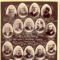 Image of Bishops of the Methodist Episcopal Church, copyright 1891 - General Conference