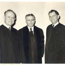 Image of District Superintendents EUB 1952-57, C.O. Main, H.E. Hiller, F.A. Sprong, - 5A Annual Conference