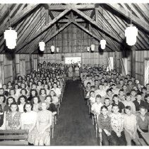 Image of large group in Lake Koronis Chapel - 6F Lake Koronis
