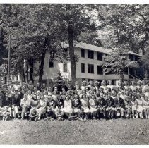 Image of June Camp 1948, Chief Counselors, Harriet Miller, Herbert Frank - 6F Lake Koronis