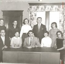 Image of Methodist Youth Fellowship, Southwest District officers, 1957 - 2C Council on Youth Ministries