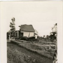 Image of Methodist Church at Cedar Minnesota after tornado hit it June 1939 - Local Church