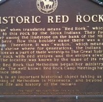 Image of Red Rock plaque