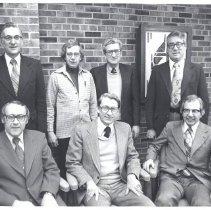 Image of Bishop Wayne Clymer and Cabinet 1977-78 - 1A1 Cabinet
