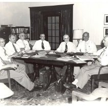 Image of Bishop Coors and Cabinet 1955