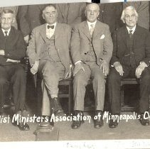 Image of Methodist Ministers Association of Minneapolis, Oct. 17, 1927 - Clergy